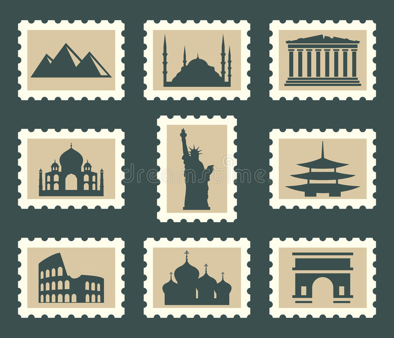 Download Sights set stock vector. Illustration of locations, china - 30644435