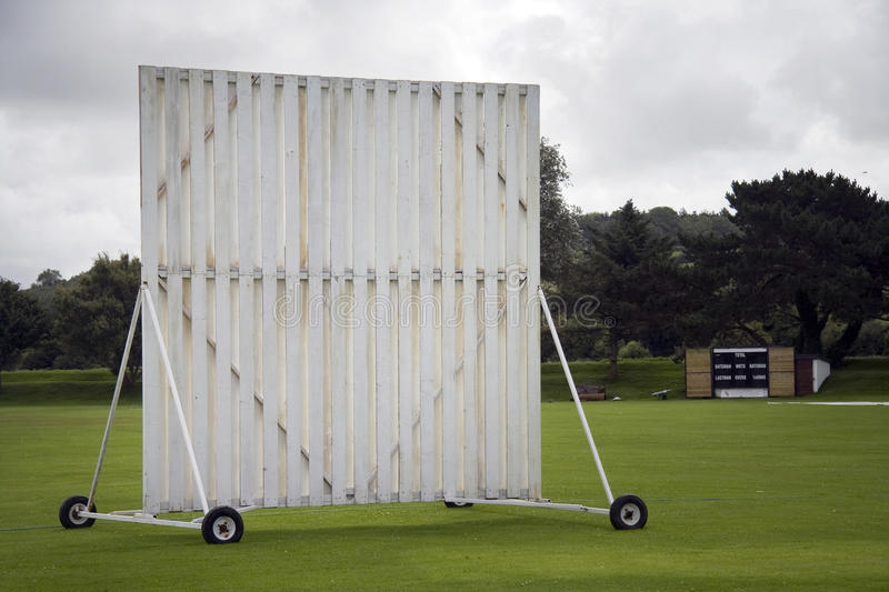 Sightscreen at cricket ground royalty free stock photography