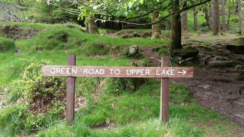 Sightseeing bij het de Berg Nationale Park van Wicklow royalty-vrije stock fotografie