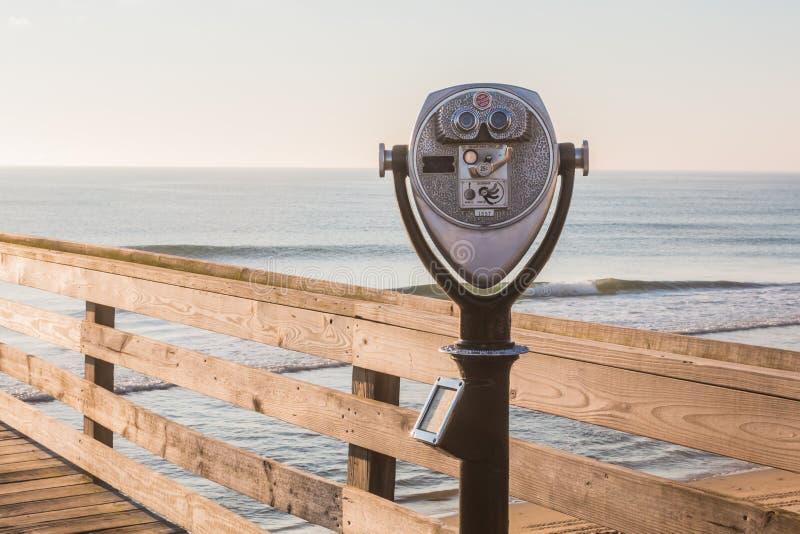 Binoculars In Newport Beach Pier Stock Photo - Download