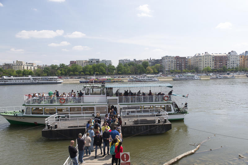 Sightseeing boat, Budapest stock photo