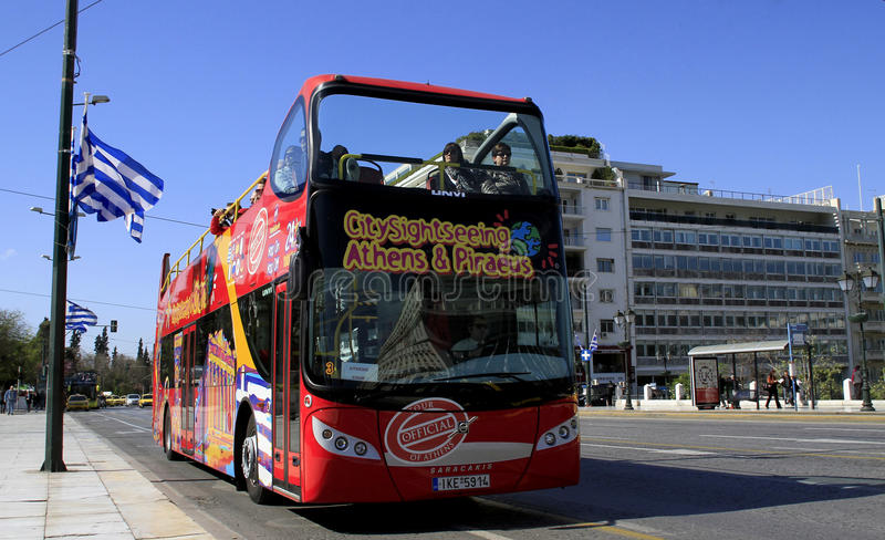 Sightseeing Bus Athens & Piraeus royalty free stock photos