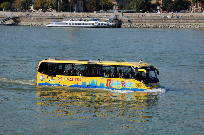Download Sightseeing Bus In The Danube River Editorial Photo - Image: 21577751
