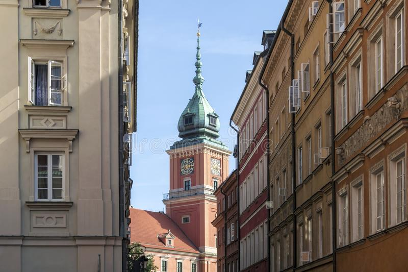 Sightseeing in Castle square, The Royal castle one of the main tourist attractions in Warsaw. Warsaw, Poland – August, 2019 : Sightseeing in royalty free stock photos