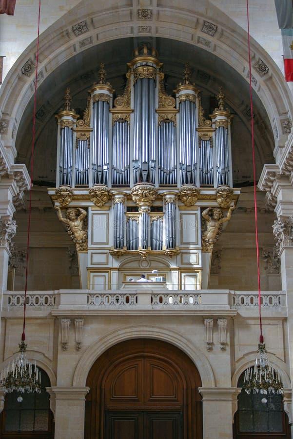 Sightseeing de Paris Órgão musical o na residência nacional do Invalids imagem de stock