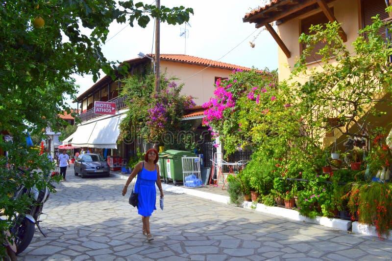 Sightseeing Happy Woman Halkidiki Editorial Stock Photo Image of