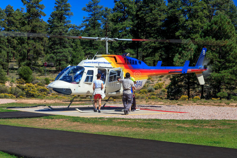 Sightseeing helicopter stock image