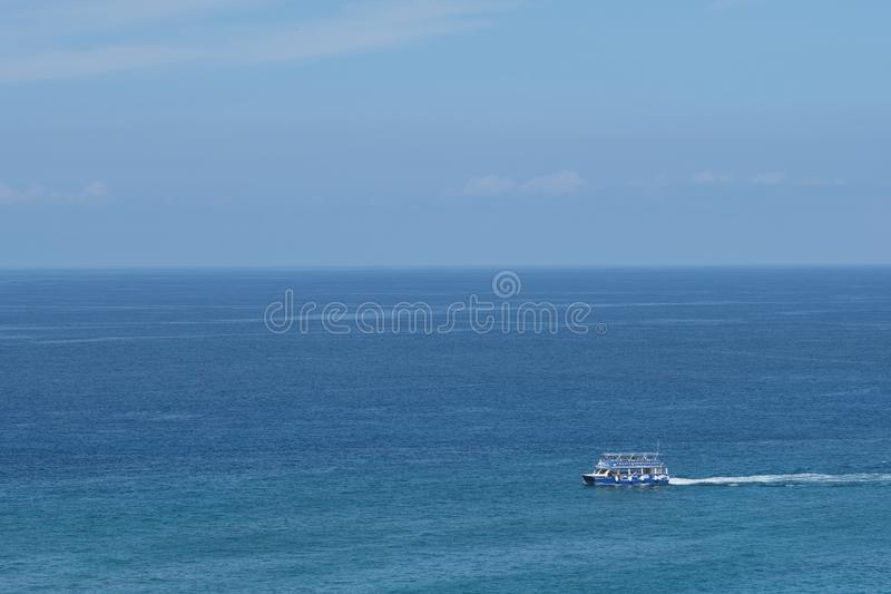 Sightseeing Ocean Boat stock photography