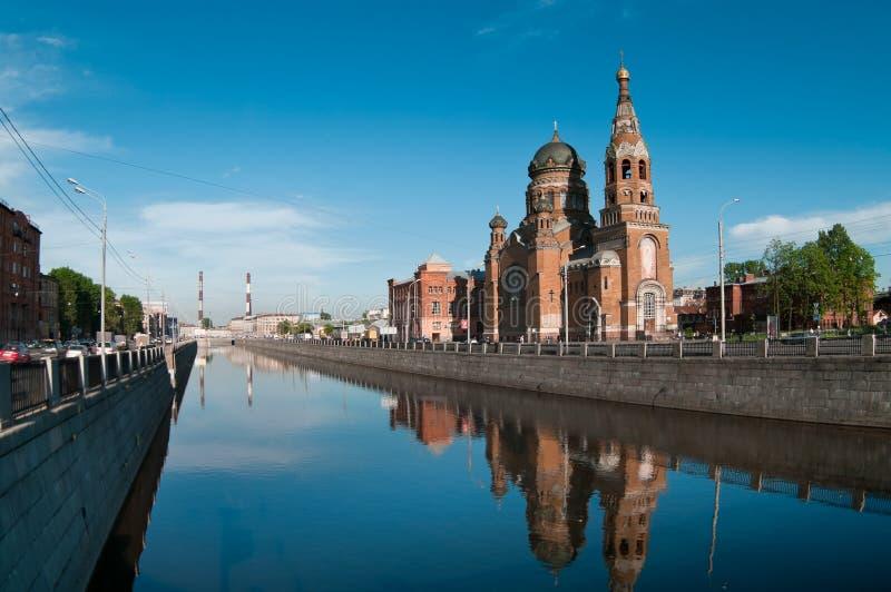 Sightseeing of Saint-Petersburg city stock photos