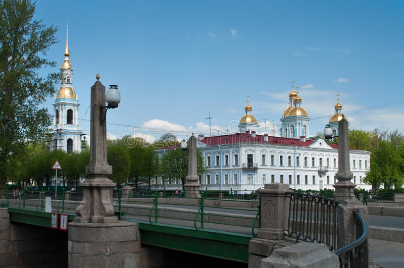 Sightseeing of Saint-Petersburg city stock images