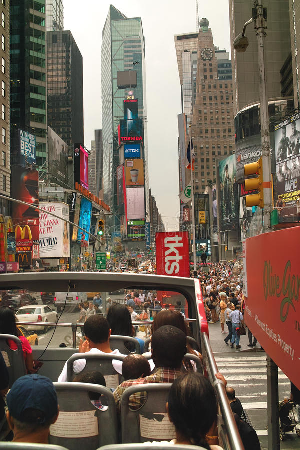 Sightseeing Tour Bus in Tmes Square New York USA