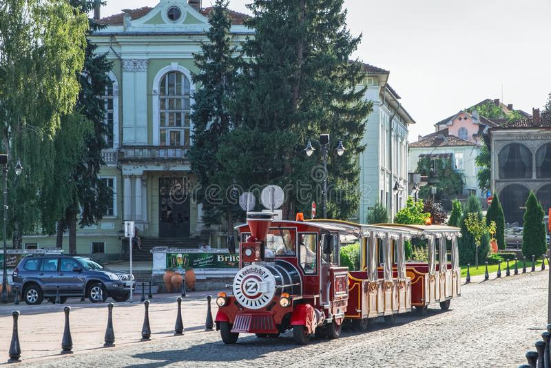 Sightseeing train in Veliko Tarnovo, Bulgaria stock photos