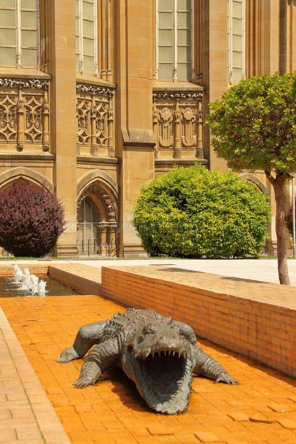 Sightseeing van groene hoofdstad van Spanje, Vitoria 'Gasteiz stock afbeelding