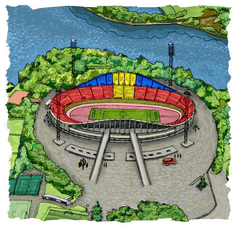 Krasnoyarsk stadium vector illustration
