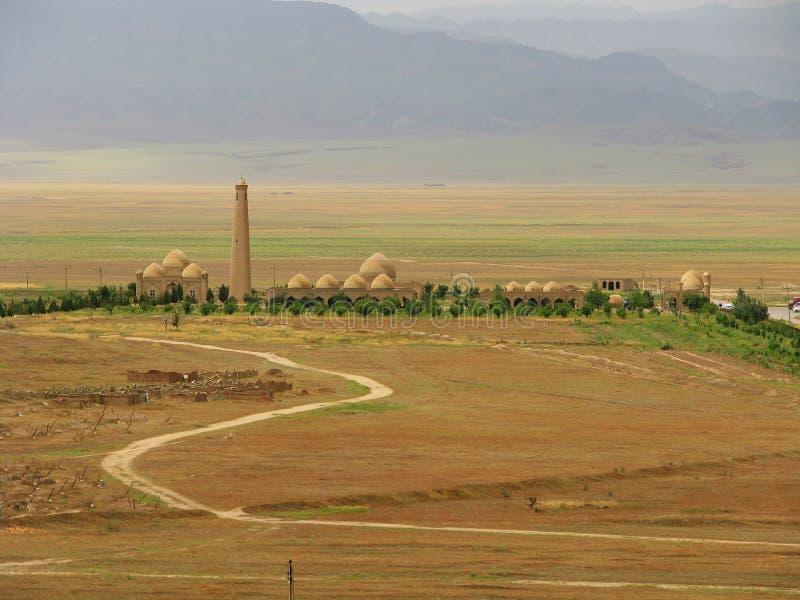 Sightseengs de Turkmenistan - babá de Meana imagens de stock