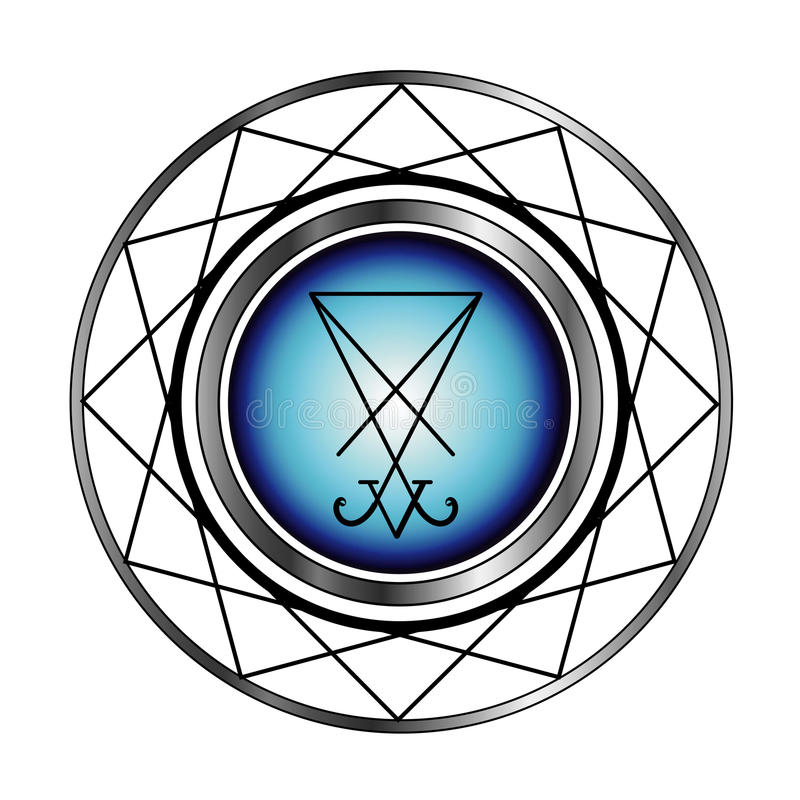 Sigil Of Lucifer royalty free stock images