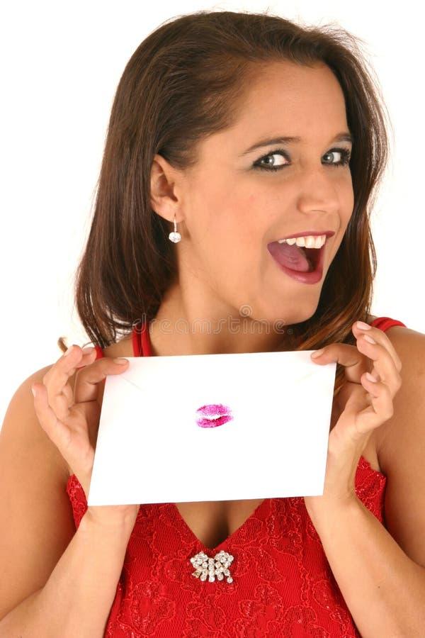 Sigillato con un bacio fotografia stock