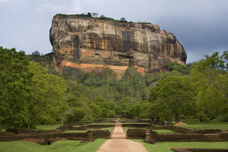 Sigiriya岩石堡垒-斯里南卡 图库摄影