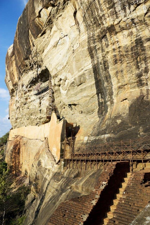 Sigiriya (la roche du lion), Sri Lanka photo stock