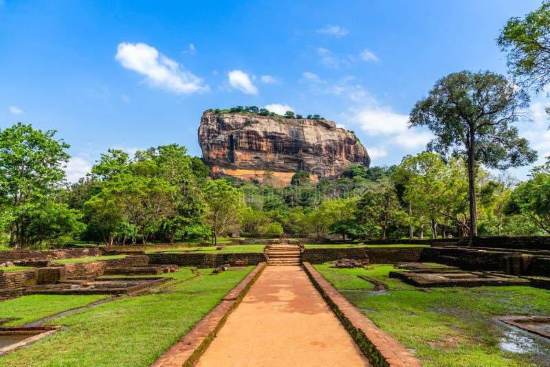 Sigiriya or Lion rock - ancient rock fortress, Dambulla, Central Province ,Sri Lanka stock photos