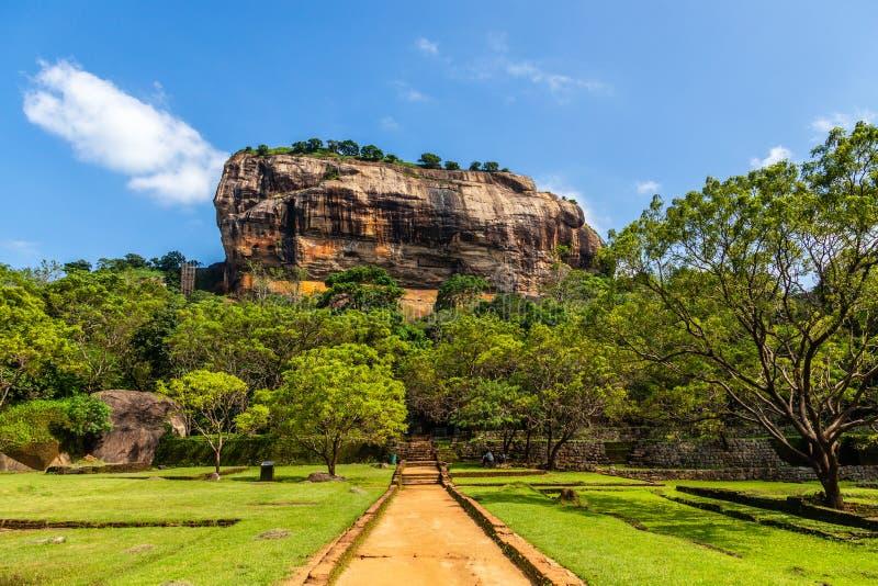 Sigiriya or Lion rock - ancient rock fortress, Dambulla, Central Province ,Sri Lanka royalty free stock image