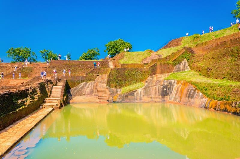 Sigiriya, Lion Rock Fortress, Sri Lanka royalty-vrije stock afbeeldingen