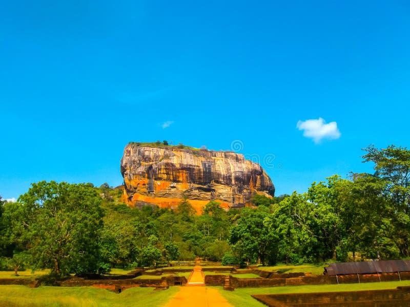 Sigiriya Lion Rock Fortress in Sri Lanka. Sigiriya Lion Rock Fortress at Sri Lanka royalty free stock photography