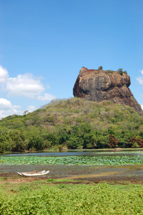 The Sigiriya (Lion's rock) stock photography