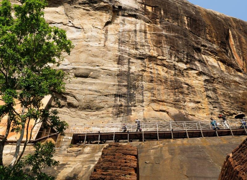 Sigiriya oude rots in Sri Lanka royalty-vrije stock fotografie