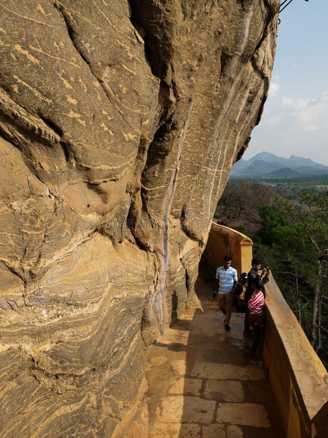 Sigiriya oude rots in Sri Lanka stock foto