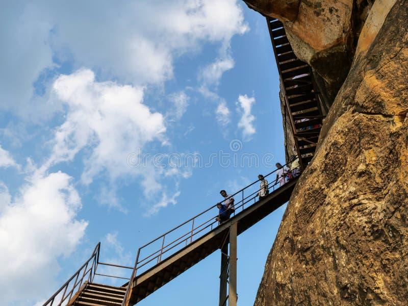 Sigiriya oude rots in Sri Lanka stock foto's