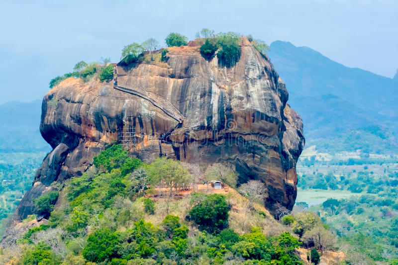 Sigiriya Rock Fortress View From Pidurangala Rock. Pidurangala Rock Has An Amazing View Of Nearby Sigiriya, Which Looked Even More Impressive From The Height royalty free stock photography