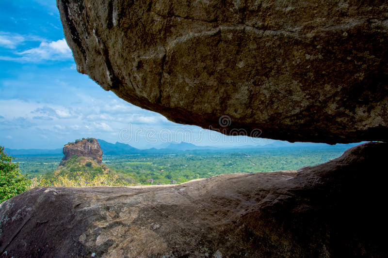 Sigiriya Rock Fortress View From Pidurangala Rock. Pidurangala Rock Has An Amazing View Of Nearby Sigiriya, Which Looked Even More Impressive From The Height stock photos