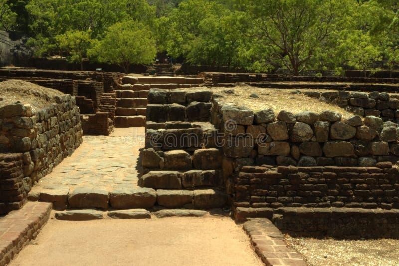 Sigiriya, Sri Lanka - de Rots van de Leeuw, de Vesting van de Rots stock afbeelding