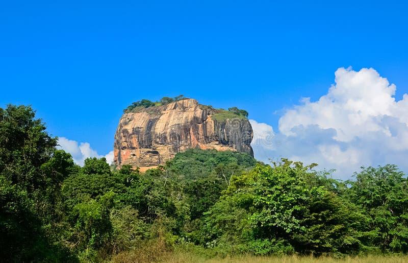 Sigiriya vaggar fästningen arkivbild