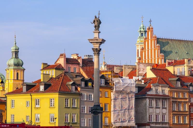 Sigismund-Kolumne auf dem Burgplatz in Warschau stockfoto