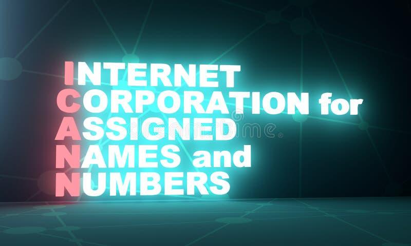 Siglas del concepto de Internet libre illustration