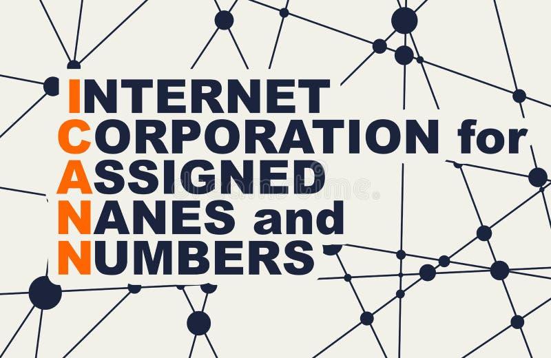 Siglas del concepto de Internet ilustración del vector