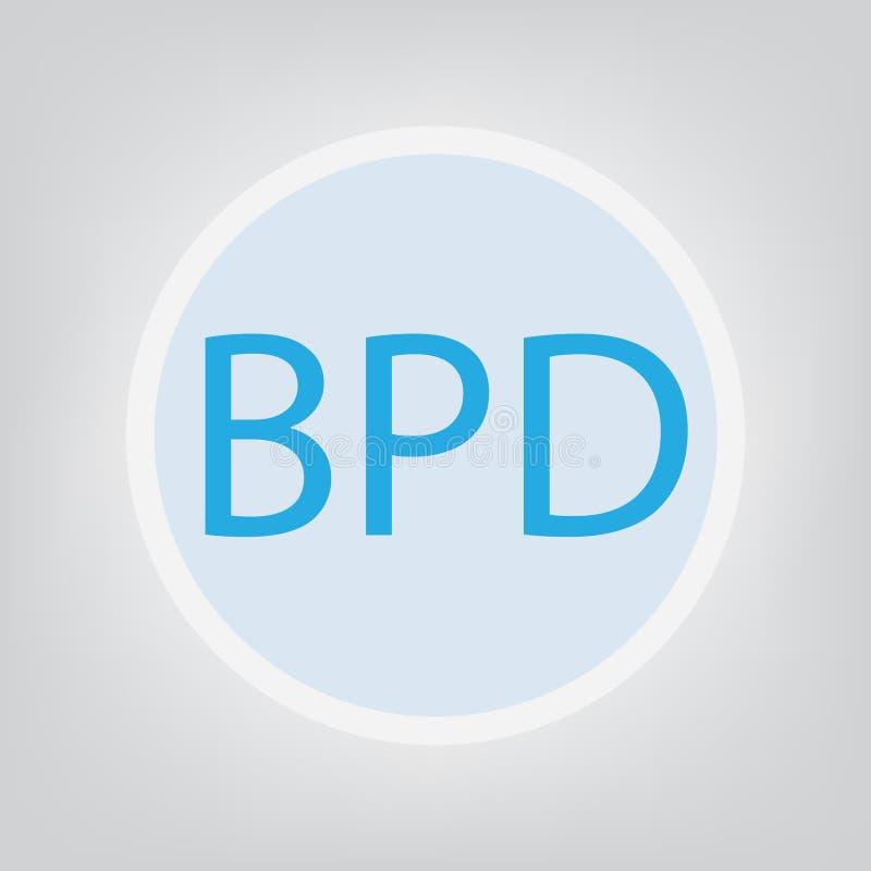 Siglas del desorden de personalidad límite del BPD libre illustration