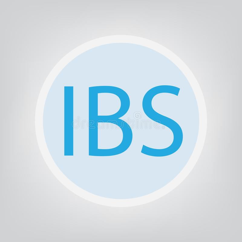 Siglas del síndrome de intestino irritable de IBS stock de ilustración