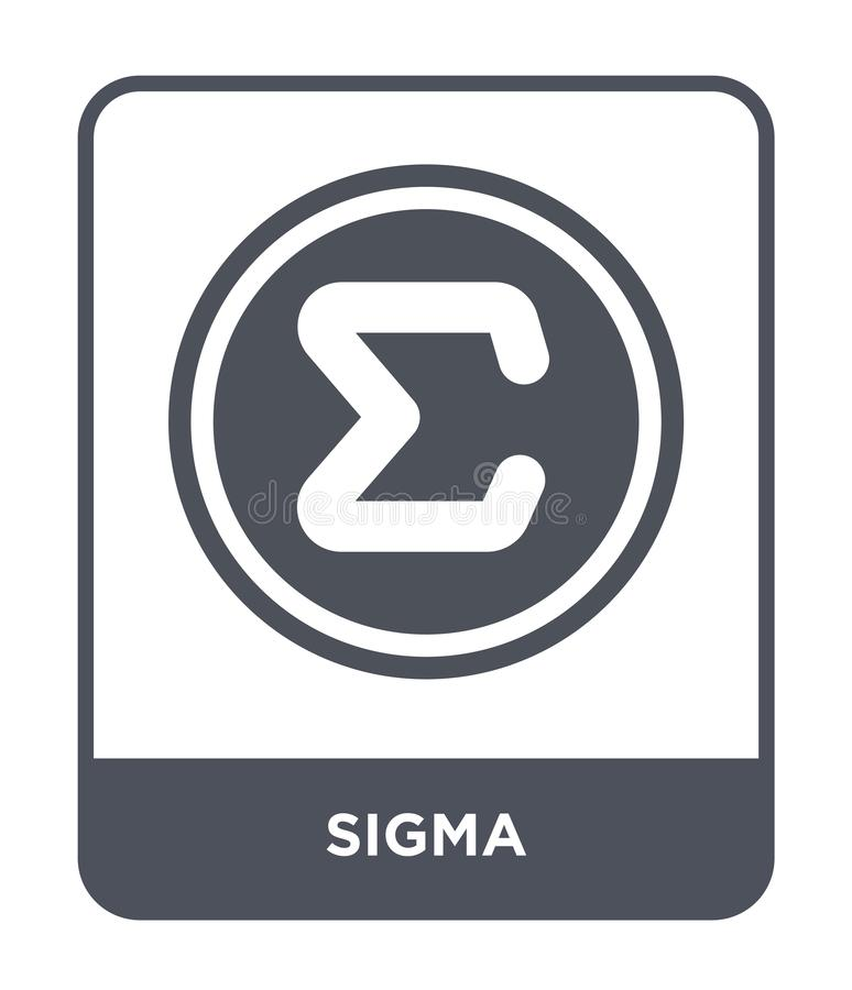 sigma icon in trendy design style. sigma icon isolated on white background. sigma vector icon simple and modern flat symbol for royalty free illustration