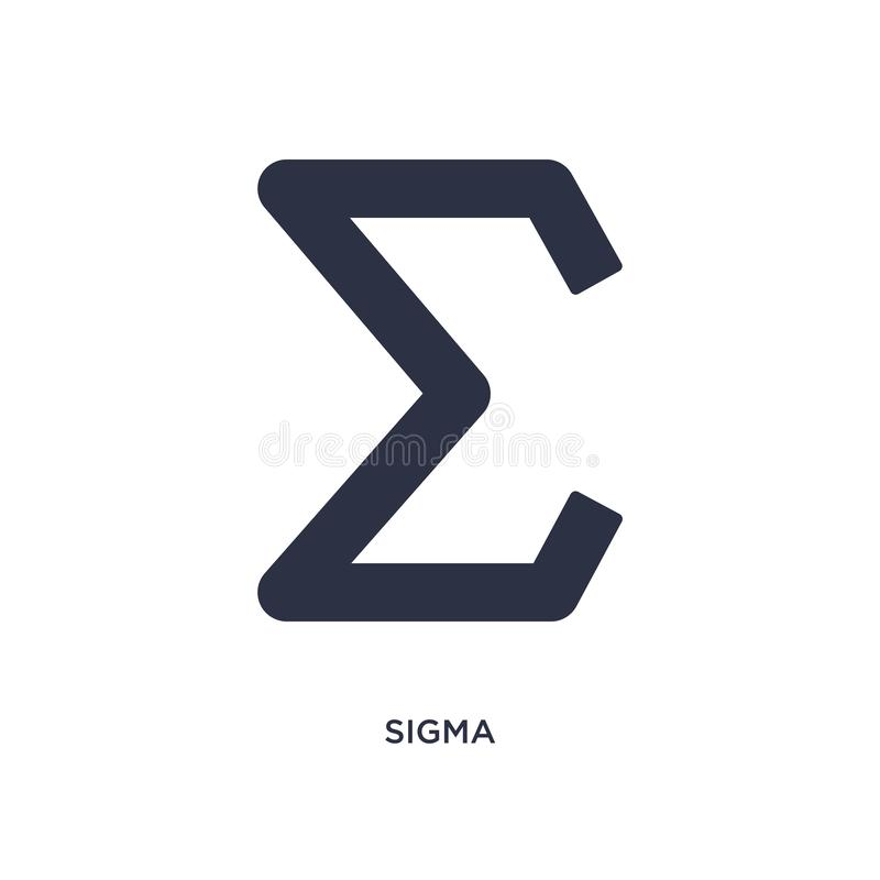 sigma icon on white background. Simple element illustration from greece concept vector illustration