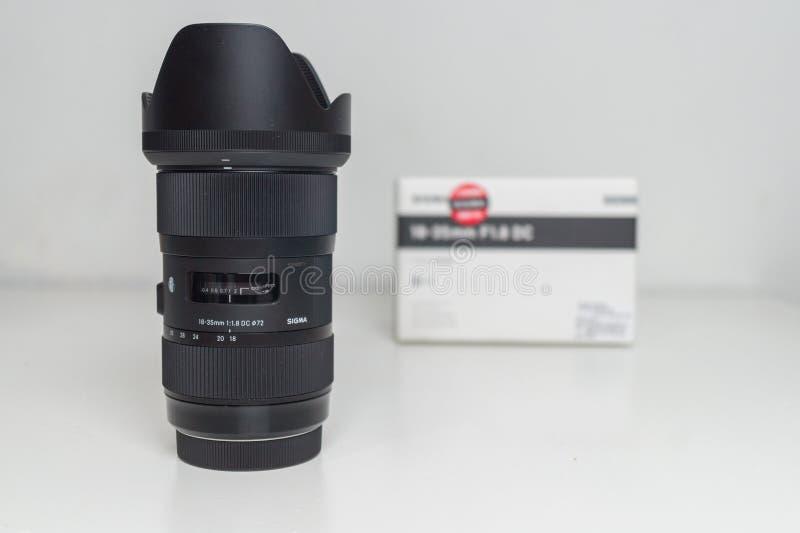 Sigma 18-35 1 Slut för 8 Lens upp royaltyfri foto