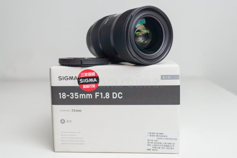 Sigma 18-35 1 Slut för 8 Lens upp arkivbilder