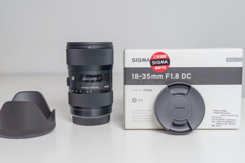 Sigma 18-35 1 Slut för 8 Lens upp royaltyfria bilder