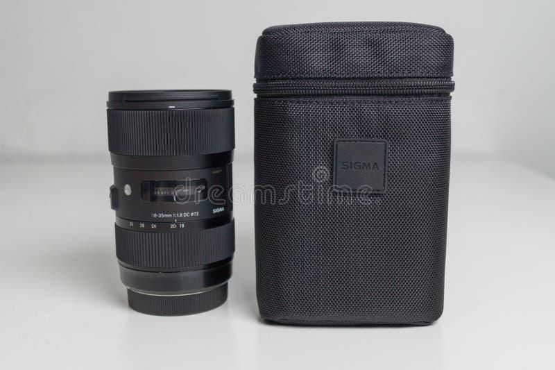 Sigma 18-35 1 Slut för 8 Lens upp arkivfoton