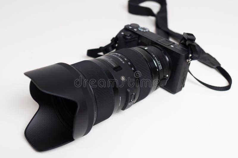 Sigma 18-35 1 Slut för 8 Lens upp fotografering för bildbyråer