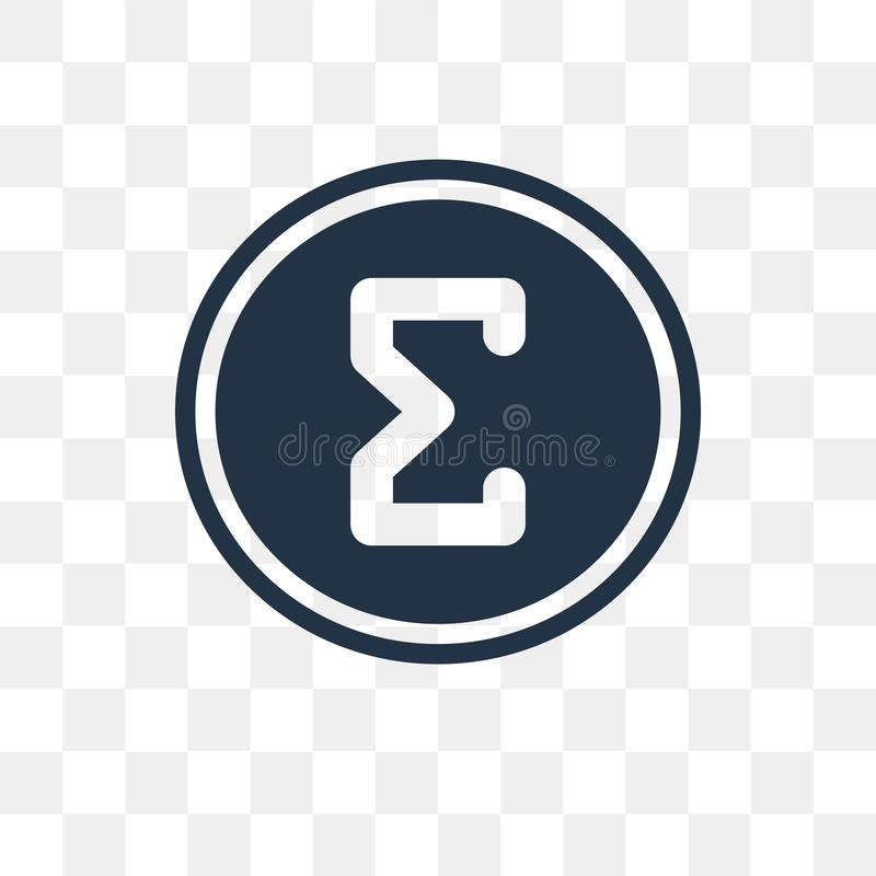Sigma vector icon isolated on transparent background, Sigma tra vector illustration