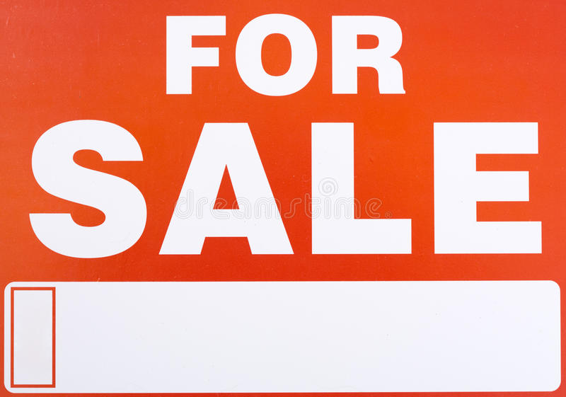 Download Sign �For Sale� stock image. Image of consumer, sign - 11754579
