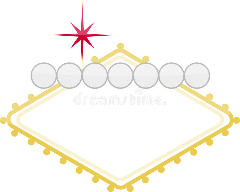 Sign. Casino customizable illustration sign isolated over white royalty free illustration